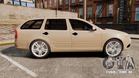 Skoda Octavia RS Stock para GTA 4 esquerda vista