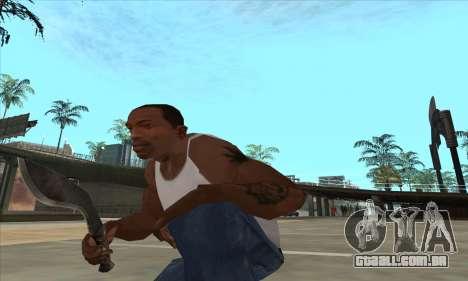 Kukri faca-facão para GTA San Andreas terceira tela