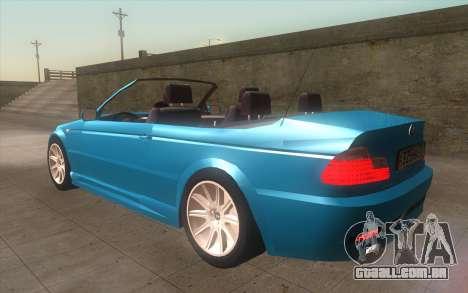 BMW 325Ci 2003 para GTA San Andreas esquerda vista