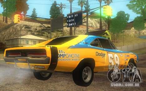 Dodge Charger RT 1969 para GTA San Andreas esquerda vista