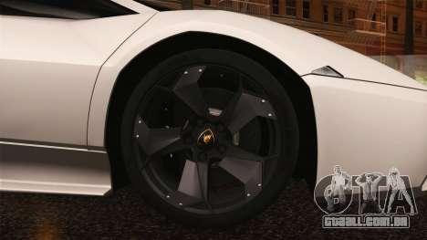 Lamborghini Reventon 2008 SLOD para vista lateral GTA San Andreas