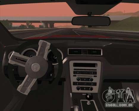 Ford Mustang Rocket Bunny 2015 para GTA San Andreas interior