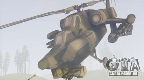 Mi-28 para GTA San Andreas traseira esquerda vista