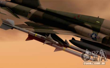 F-5 Tiger II para GTA San Andreas vista direita