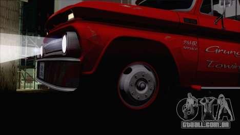 Chevrolet C20 Towtruck 1966 1.01 para GTA San Andreas vista direita