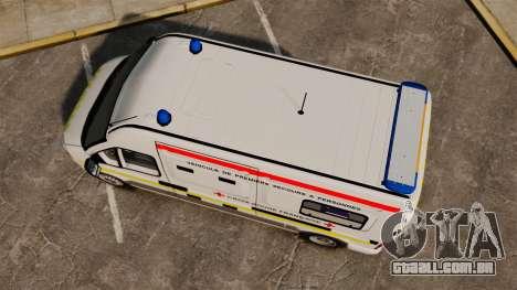 Renault Master French Red Cross [ELS] para GTA 4 vista direita