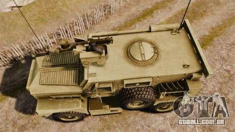 Cougar MRAP 4X4 para GTA 4 vista direita