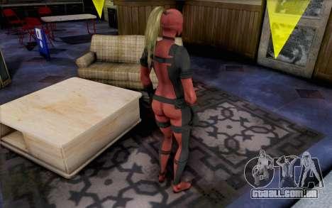 Lady Deadpool para GTA San Andreas segunda tela
