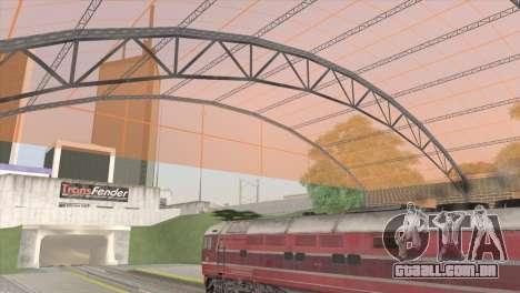 Estação de caminhos de ferro em San Fierro para GTA San Andreas terceira tela