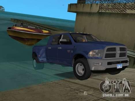 Dodge Ram 3500 Laramie 2012 para GTA Vice City interior