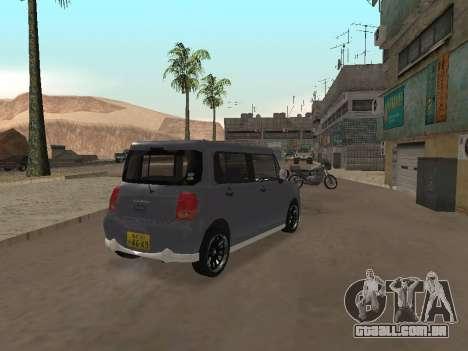 Suzuki Alto Lapin para GTA San Andreas vista traseira