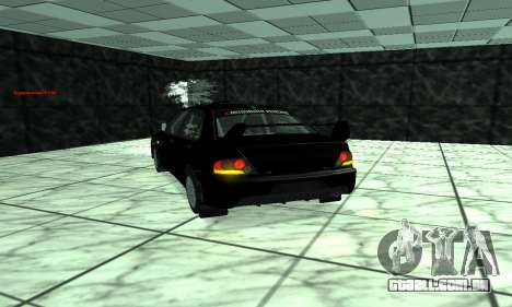 Mitsubishi Lancer Evo 9 para GTA San Andreas vista interior