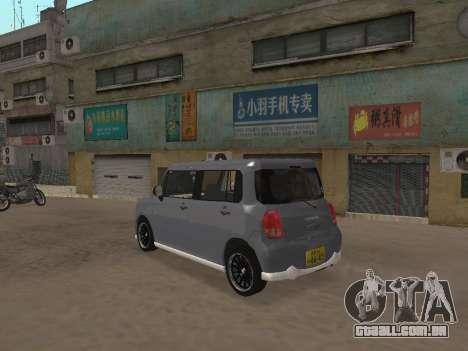 Suzuki Alto Lapin para GTA San Andreas vista interior