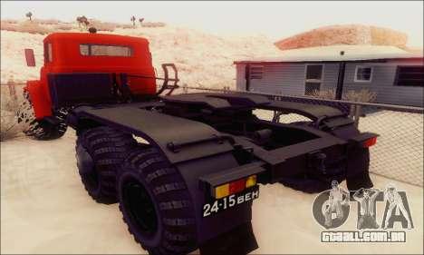 KrAZ 260v para GTA San Andreas vista traseira