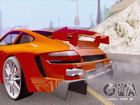 Porsche Carrera S para GTA San Andreas interior
