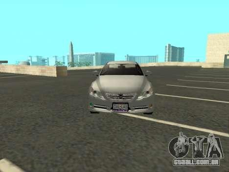Toyota Mark X para GTA San Andreas vista interior