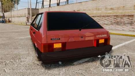 Vaz-2109 para GTA 4 traseira esquerda vista
