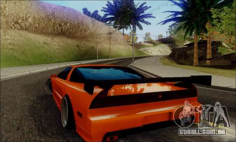 Acura NSX Drift para GTA San Andreas traseira esquerda vista