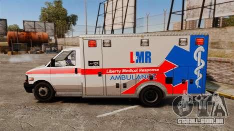 Brute Liberty Ambulance [ELS] para GTA 4 esquerda vista