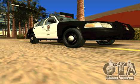 Ford Crown Victoria Police LV para GTA San Andreas vista direita