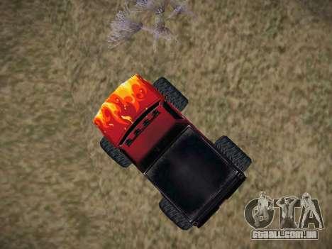 Novas texturas para o monstro (A) para GTA San Andreas vista direita