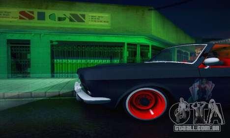 GAZ Volga 24 Cabriolet para GTA San Andreas vista superior
