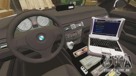 BMW 330i Ambulance [ELS] para GTA 4 vista de volta