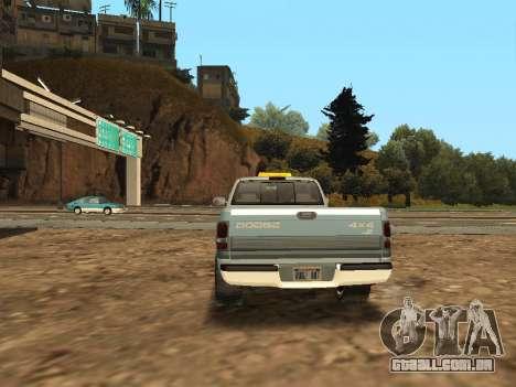 Dodge Ram para GTA San Andreas vista direita