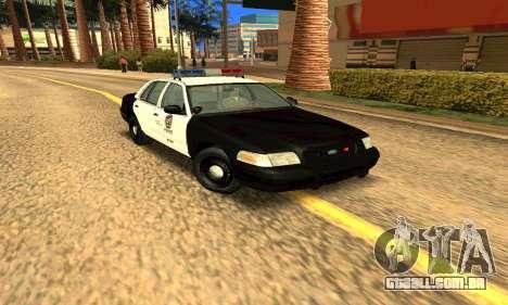 Ford Crown Victoria Police LV para GTA San Andreas vista traseira