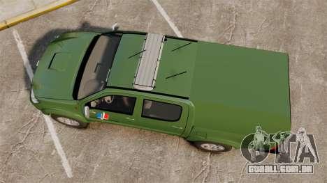 Toyota Hilux Land Forces France [ELS] para GTA 4 vista direita