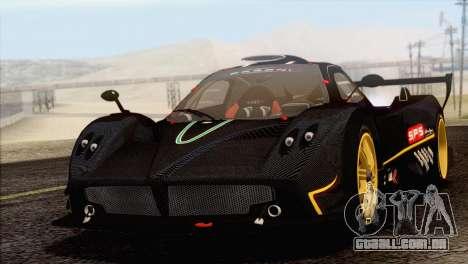 Pagani Zonda R SPS v3.0 Final para GTA San Andreas vista traseira