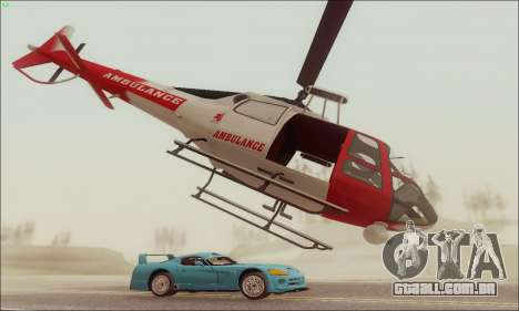 GTA V Ambulacia Maverick para GTA San Andreas traseira esquerda vista