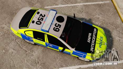 BMW 550i Metropolitan Police [ELS] para GTA 4 vista direita