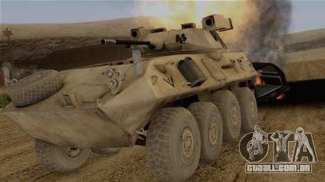 LAV-25 Desert Camo para GTA San Andreas vista traseira