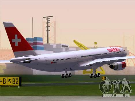 Airbus A330-223 Swiss International Airlines para GTA San Andreas traseira esquerda vista