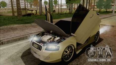 Audi S3 para vista lateral GTA San Andreas