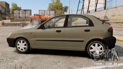 Daewoo Lanos S PL 2001 para GTA 4 esquerda vista