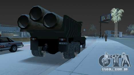 Caminhão de descarga KrAZ 255 para GTA Vice City vista traseira esquerda