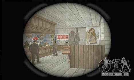 Rifle Sniper para GTA San Andreas por diante tela