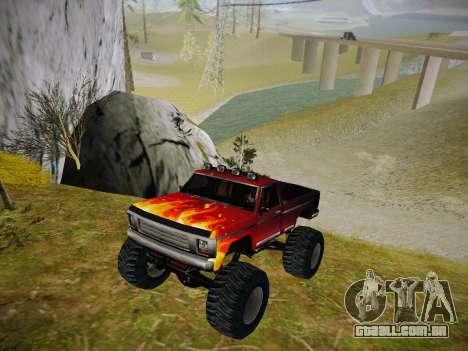 Novas texturas para o monstro (A) para GTA San Andreas esquerda vista
