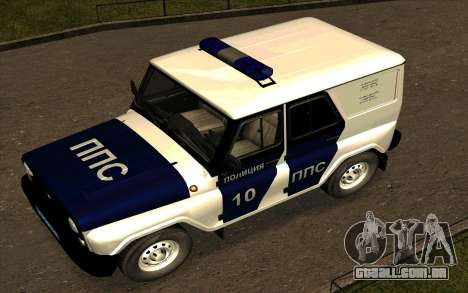 UAZ Hunter PPP para GTA San Andreas vista superior