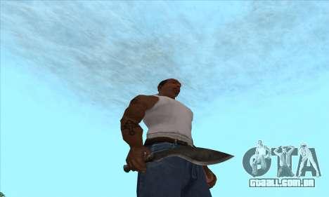 Kukri faca-facão para GTA San Andreas segunda tela