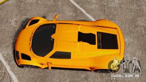 Gumpert Apollo S 2011 para GTA 4 vista direita