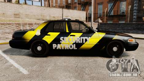Ford Crown Victoria 2008 Security Patrol [ELS] para GTA 4 esquerda vista