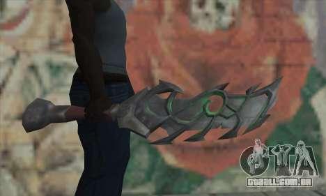 A espada do World of Warcraft para GTA San Andreas terceira tela