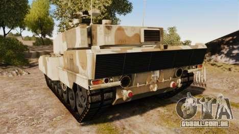 Leopard 2A7 para GTA 4 traseira esquerda vista