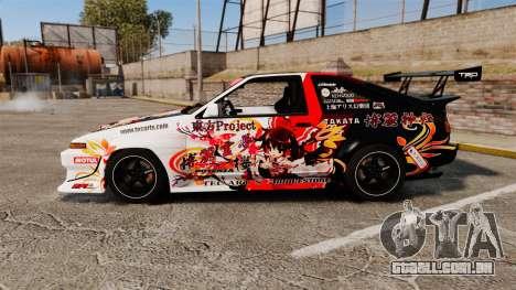 Toyota Corolla GT-S AE86 [EPM] Reimu Hakurei para GTA 4 esquerda vista