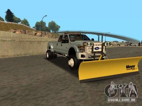 Ford F-450 para GTA San Andreas traseira esquerda vista