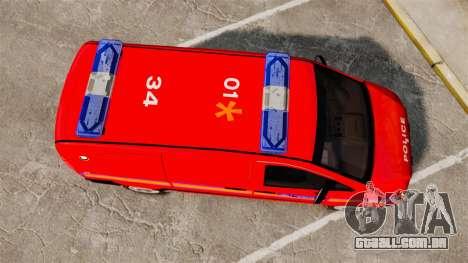 Mercedes-Benz Vito Metropolitan Police [ELS] para GTA 4 vista direita
