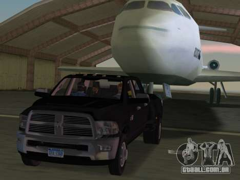 Dodge Ram 3500 Laramie 2012 para GTA Vice City vista inferior
